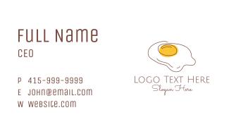 Fried Egg Line Art Business Card