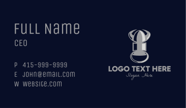 Silver Bullet Bull Horns Business Card