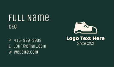 Simple White Shoe Business Card