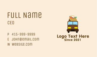 Organic Produce Delivery Business Card