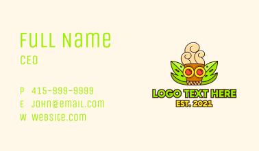 Ancient Mayan Cafe  Business Card