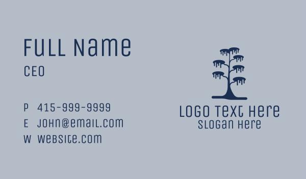 rainforest - Winter Tree Business card horizontal design