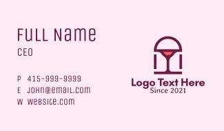Wine Glass Homeware Business Card