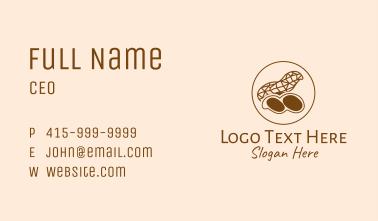 Brown Geometric Peanut Business Card