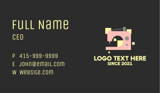 Electric Sewing Machine  Business Card