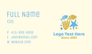 Ocean Fish Shells  Business Card