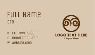 Abstract Owl Face  Business Card