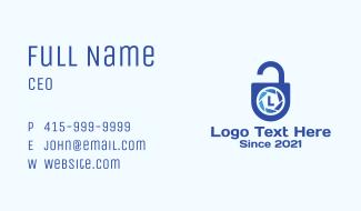 Camera Lock Lettermark Business Card