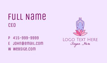 Lotus Yoga Pose Business Card