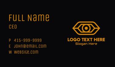 Yellow Cyber Eye Business Card