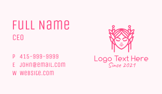 Pink Fairy Business Card