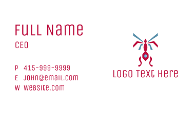 Geometric Insect Business Card
