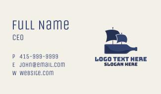 Blue Bottle Ship Business Card