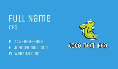 Graffiti Letter T Business Card