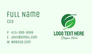 Green Leaf Herb Business Card