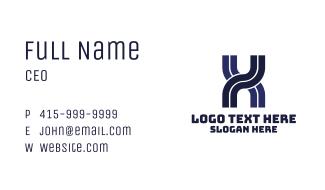 Transportation Planning Letter X Business Card