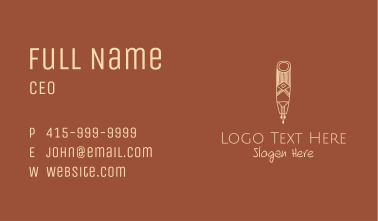 Ethnic Wall Decoration Business Card