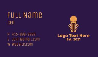 Orange Octopus Cuisine Business Card