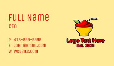 Strawberry Dessert Bowl Business Card