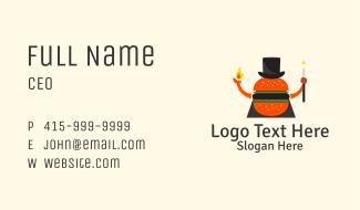 Magician Burger Mascot Business Card