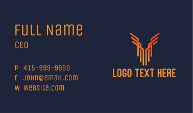 Minimalist Wing Building Business Card