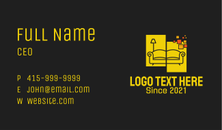 Pixel Home Furnishing Business Card