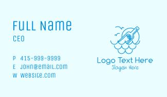 Minimalist Message Bottle Business Card