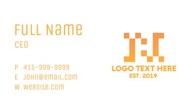 Pixel Letter H Business Card