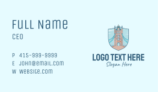 Tower Bridge Landmark Business Card