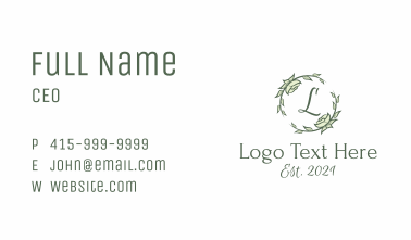 Garland Decoration Plant Letter  Business Card