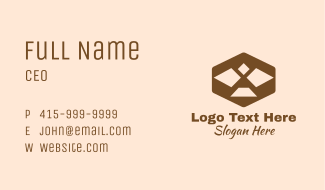 Geometric Bird Eagle Business Card