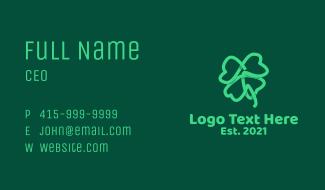 Irish Shamrock Leaf  Business Card