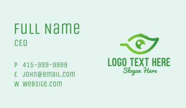 Green Leaf Eye  Business Card