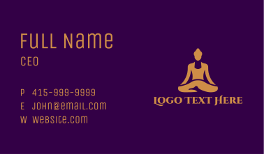 Gold Wellness Buddha Spa  Business Card