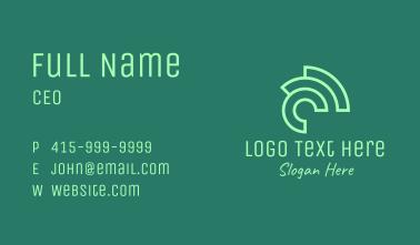 Green Chameleon Letter C Business Card