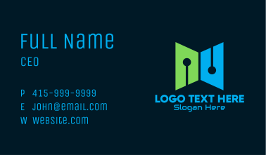 Digital Tech Book Business Card