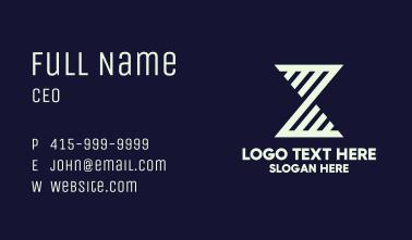 White Hourglass Stripe Business Card