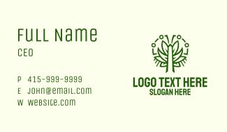 Symmetric Green Plant Business Card