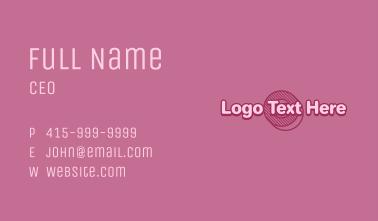 Geometric Donut Wordmark Business Card
