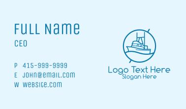 Blue Cargo Ship  Business Card