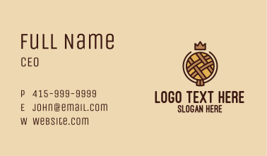 Crown Pastry Pie Bakery Business Card