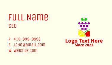 Organic Fruit Market  Business Card