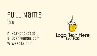 City Draught Beer  Business Card