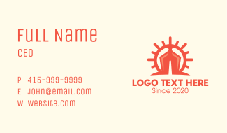Red Lung Viral Disease Business Card