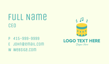 Upbeat Percussion Drum Business Card