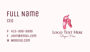 Ballet Shoes Business Card