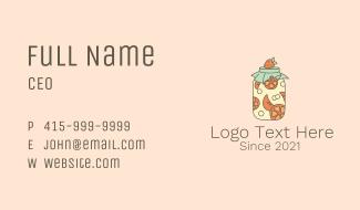 Fruit Mason Jar Business Card