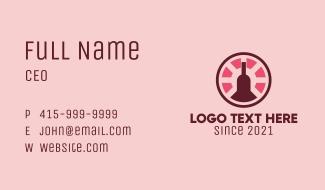 Casino Wine Liquor  Business Card