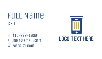 Column Phone Business Card