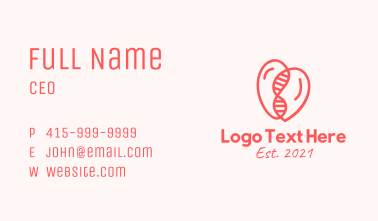 Heart DNA String  Business Card